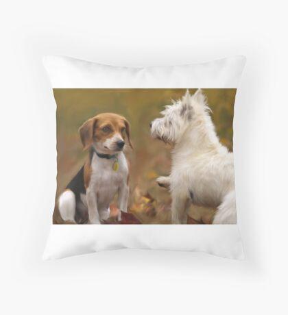 AUTUMN DOGS Throw Pillow
