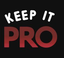 Keep It Pro (red) One Piece - Long Sleeve
