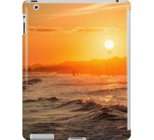 Orange Watercolor Beach Sunset iPad Case/Skin