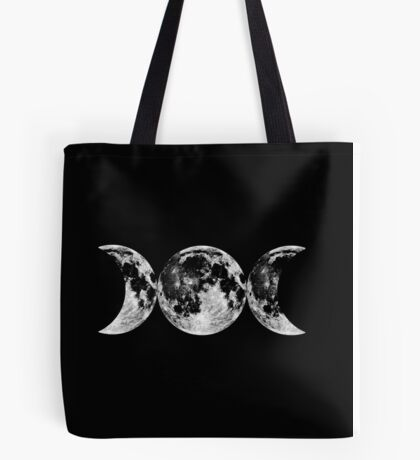 Triple Moon Goddess Symbol Tote Bag