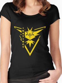 Pokemon Go - Team Instinct (Team Yellow) - Vertical Women's Fitted Scoop T-Shirt