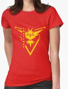 Pokemon Go - Team Instinct (Team Yellow) - Vertical Womens Fitted T-Shirt