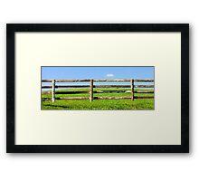 Fence 1 Framed Print