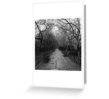 Lifeless trees Greeting Card
