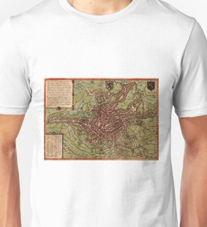 Gent Vintage map.Geography Belgium ,city view,building,political,Lithography,historical fashion,geo design,Cartography,Country,Science,history,urban Unisex T-Shirt
