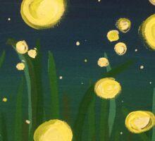 Summer Fireflies Sticker