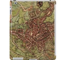 Gent Vintage map.Geography Belgium ,city view,building,political,Lithography,historical fashion,geo design,Cartography,Country,Science,history,urban iPad Case/Skin