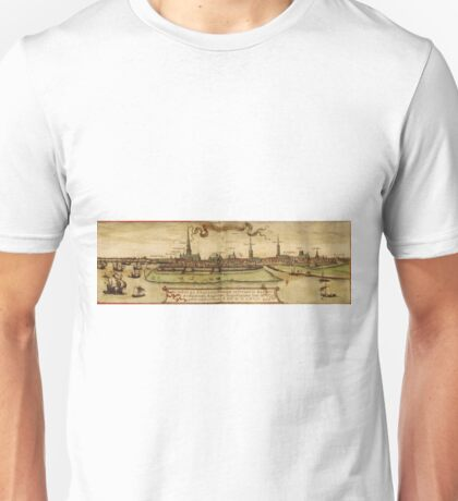 Hamburg Vintage map.Geography Germany ,city view,building,political,Lithography,historical fashion,geo design,Cartography,Country,Science,history,urban Unisex T-Shirt