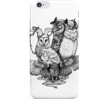 Goatowls (b&w) iPhone Case/Skin