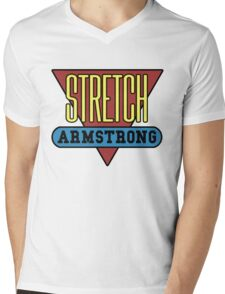 Stretch Armstrong Mens V-Neck T-Shirt