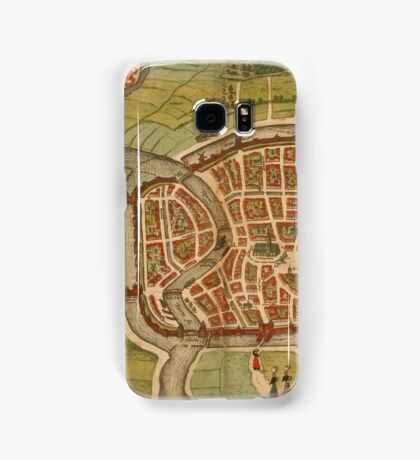 Haarlem Vintage map.Geography Germany ,city view,building,political,Lithography,historical fashion,geo design,Cartography,Country,Science,history,urban Samsung Galaxy Case/Skin