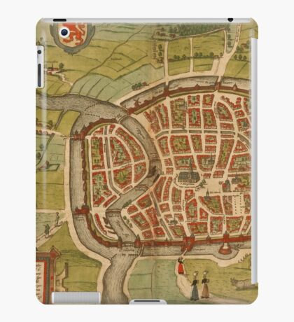 Haarlem Vintage map.Geography Germany ,city view,building,political,Lithography,historical fashion,geo design,Cartography,Country,Science,history,urban iPad Case/Skin