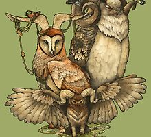 Goatowls (colour) by Zuzanna Krolik