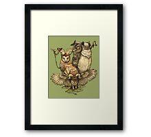 Goatowls (colour) Framed Print