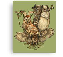 Goatowls (colour) Canvas Print
