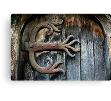 Grungy Metal Claws Canvas Print