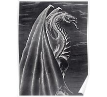 Black and White Dragon. Poster