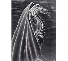 Black and White Dragon. Photographic Print