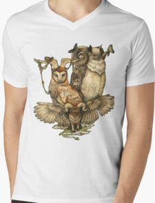 Goatowls (colour) Mens V-Neck T-Shirt