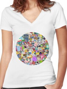 Pop Culture Collection Women's Fitted V-Neck T-Shirt
