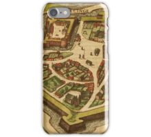 Gravelines Vintage map.Geography France ,city view,building,political,Lithography,historical fashion,geo design,Cartography,Country,Science,history,urban iPhone Case/Skin