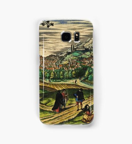 Granada2 Vintage map.Geography spain ,city view,building,political,Lithography,historical fashion,geo design,Cartography,Country,Science,history,urban Samsung Galaxy Case/Skin