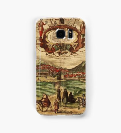 Granada Vintage map.Geography spain ,city view,building,political,Lithography,historical fashion,geo design,Cartography,Country,Science,history,urban Samsung Galaxy Case/Skin