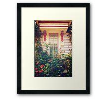 Victorian Cottage Window Framed Print
