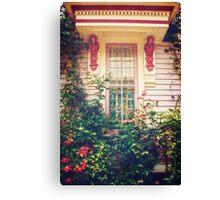 Victorian Cottage Window Canvas Print