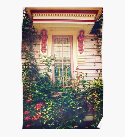 Victorian Cottage Window Poster