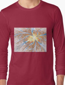 Golden Butterfly - Abstract Fractal Artwork Long Sleeve T-Shirt