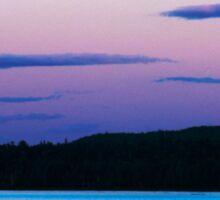 Sunset On Eagle Lake Sticker