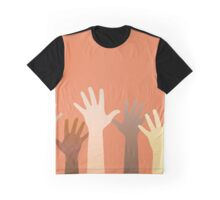 Hands raised up. Horizontally seamless. Graphic T-Shirt