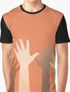 Hands raised up. Horizontally seamless. Graphic T-Shirt