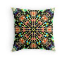 Colourful pattern kaleidoscope Throw Pillow