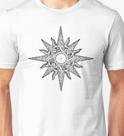 Surf in a Windrose – Compass (tattoo style) Unisex T-Shirt