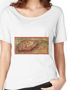 Gotha Vintage map.Geography Germany ,city view,building,political,Lithography,historical fashion,geo design,Cartography,Country,Science,history,urban Women's Relaxed Fit T-Shirt