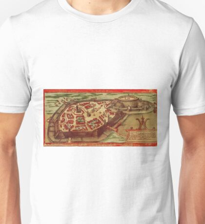 Gotha Vintage map.Geography Germany ,city view,building,political,Lithography,historical fashion,geo design,Cartography,Country,Science,history,urban Unisex T-Shirt