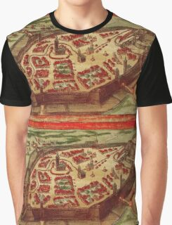 Gotha Vintage map.Geography Germany ,city view,building,political,Lithography,historical fashion,geo design,Cartography,Country,Science,history,urban Graphic T-Shirt
