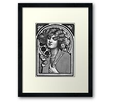 Moon Girl Framed Print
