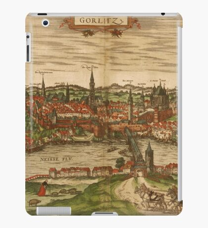 Gorlitz Vintage map.Geography Germany ,city view,building,political,Lithography,historical fashion,geo design,Cartography,Country,Science,history,urban iPad Case/Skin