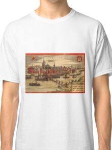 Gorinchem Vintage map.Geography Netherlands ,city view,building,political,Lithography,historical fashion,geo design,Cartography,Country,Science,history,urban Classic T-Shirt