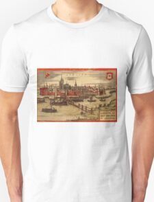 Gorinchem Vintage map.Geography Netherlands ,city view,building,political,Lithography,historical fashion,geo design,Cartography,Country,Science,history,urban Unisex T-Shirt