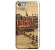 Gorinchem Vintage map.Geography Netherlands ,city view,building,political,Lithography,historical fashion,geo design,Cartography,Country,Science,history,urban iPhone Case/Skin