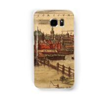 Gorinchem Vintage map.Geography Netherlands ,city view,building,political,Lithography,historical fashion,geo design,Cartography,Country,Science,history,urban Samsung Galaxy Case/Skin