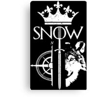 King of the North - GoT Canvas Print