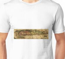 Goa Vintage map.Geography india ,city view,building,political,Lithography,historical fashion,geo design,Cartography,Country,Science,history,urban Unisex T-Shirt