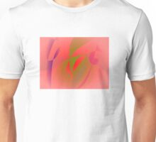 Salmon Pink and Green Tea Unisex T-Shirt