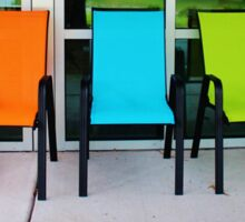 Bright And Bold Chairs Sticker