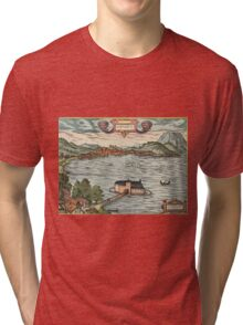 Gmunden Vintage map.Geography Austria ,city view,building,political,Lithography,historical fashion,geo design,Cartography,Country,Science,history,urban Tri-blend T-Shirt